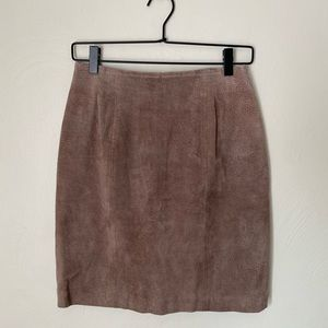Vintage Chia 100% Leather Skirt
